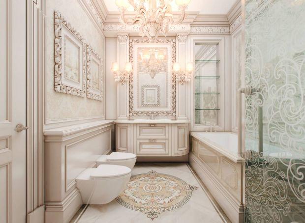 Мебель для ванной комнаты классический дизайн