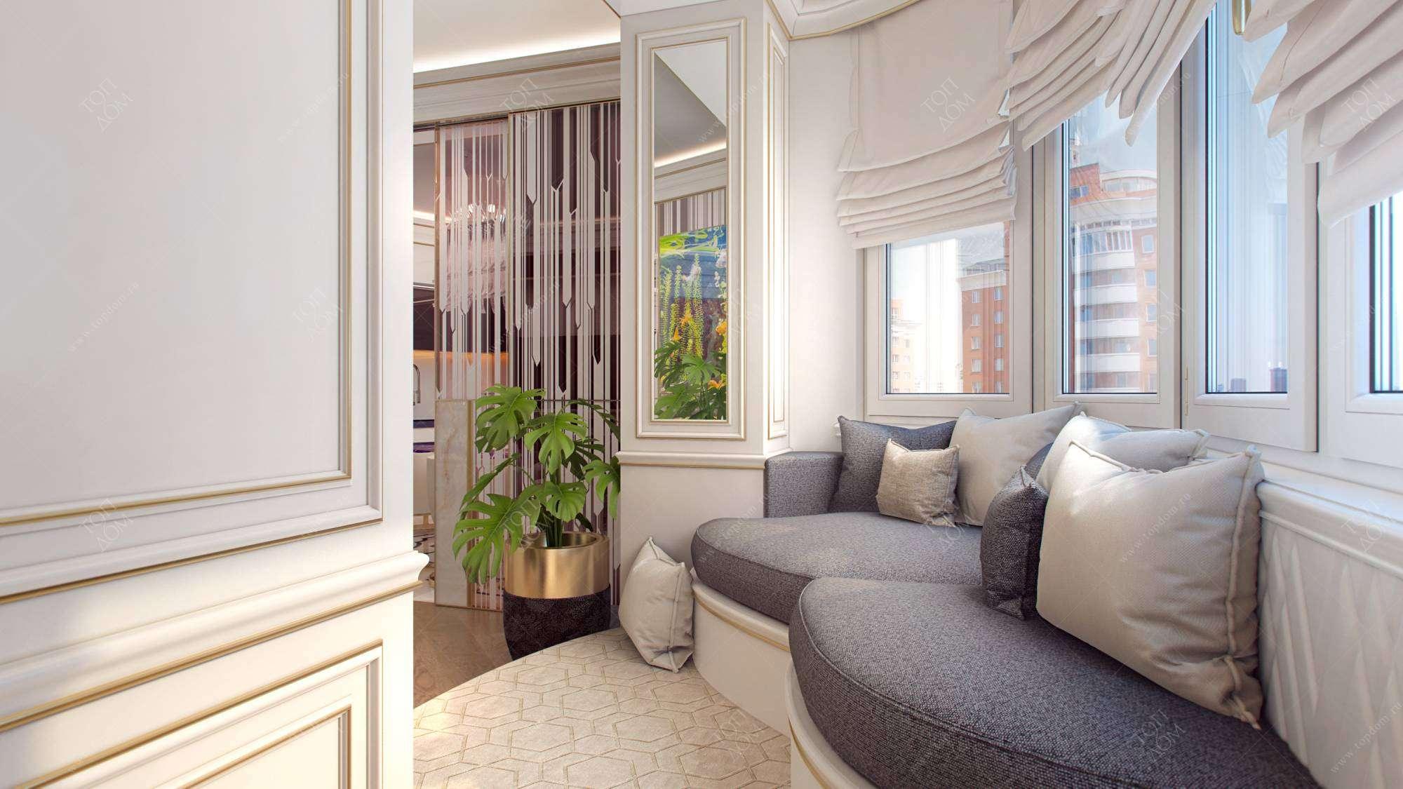 Дизайн интерьера балкона (лоджии) в квартирах.
