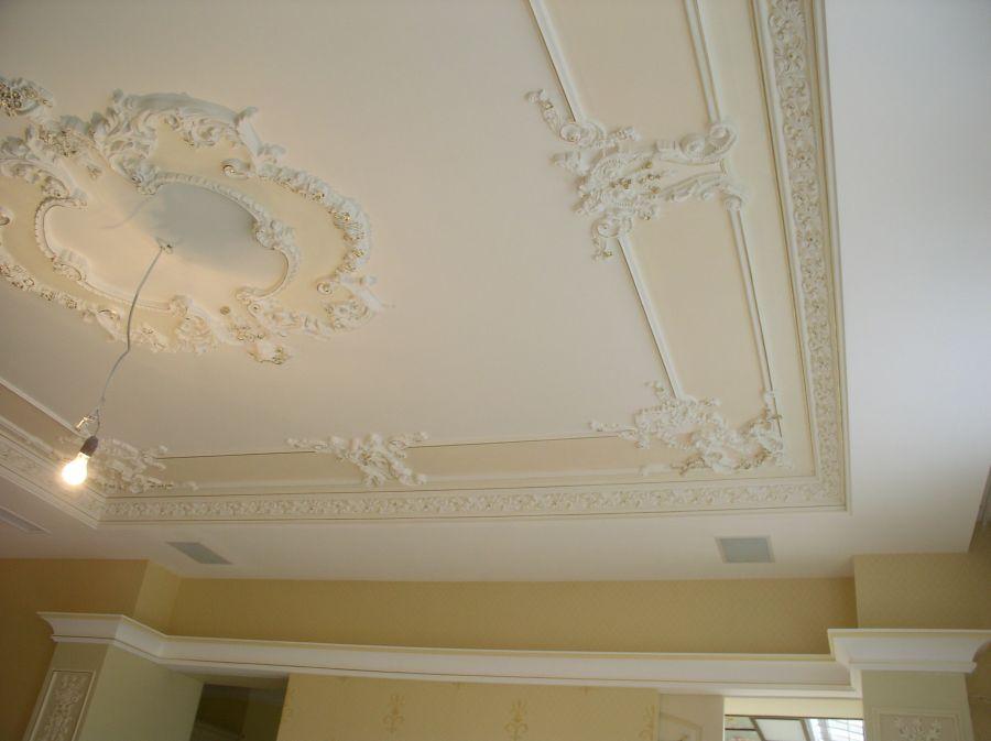 рецепт как украсить потолок из гипсокартона лепниной фото кухнях коммунальных