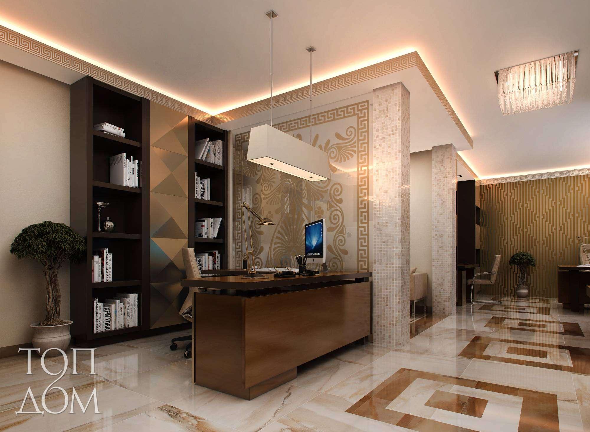 Дизайн интерьера ресепшн в офисном