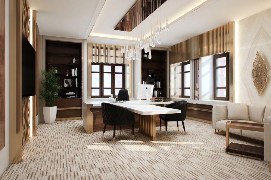 Дизайн ресепшн офиса