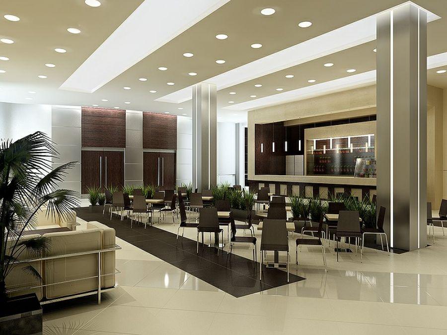 дизайн колонны в ресторане