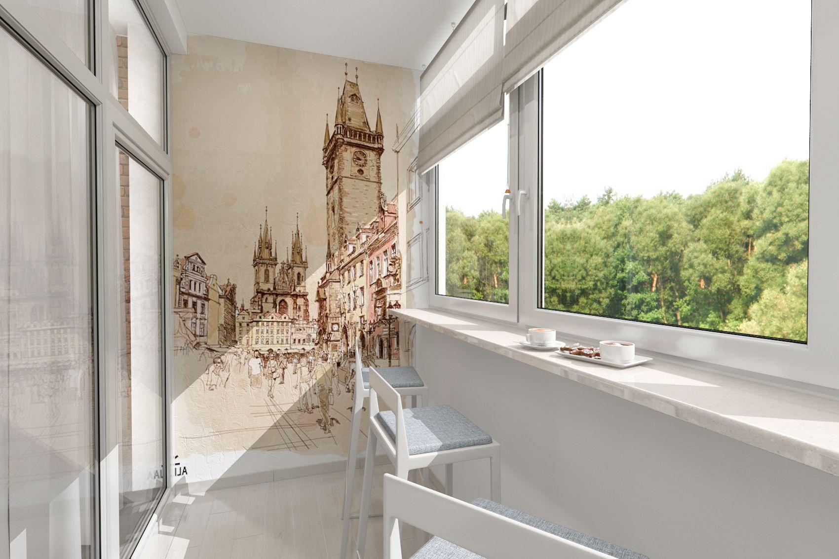 Дизайн балконов и лоджий фото (100 идей оформления, 1 видео)