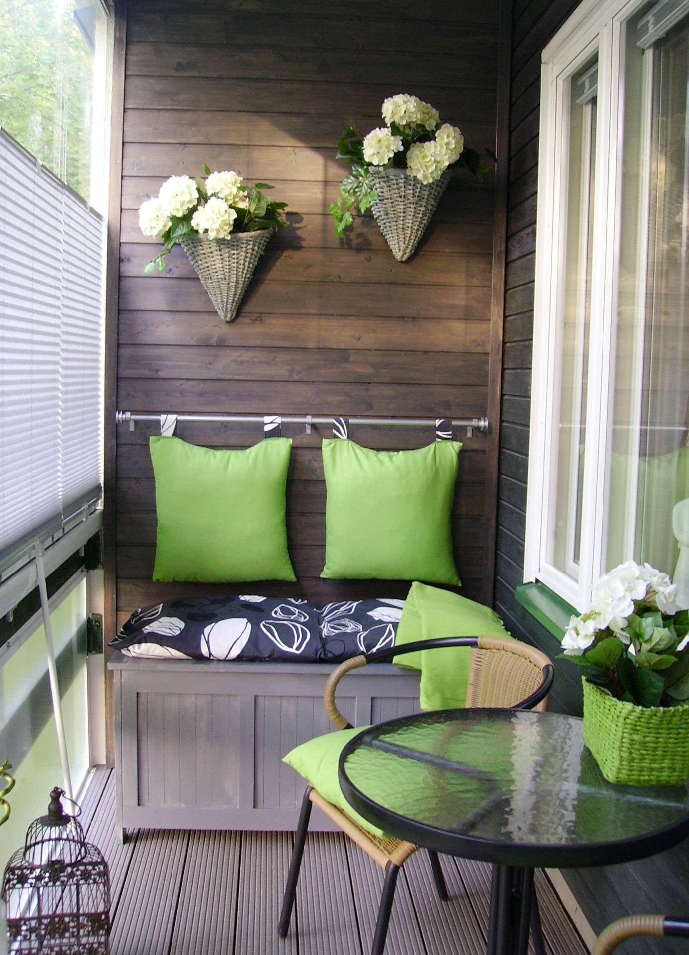 Интерьер балкона - фото варианты использования вида в свою п.