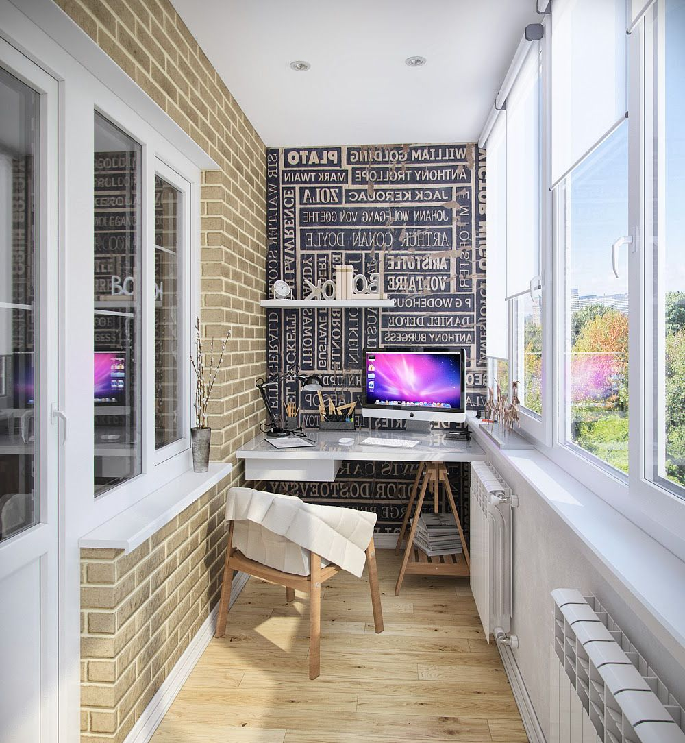 Пример кабинета на балконе.