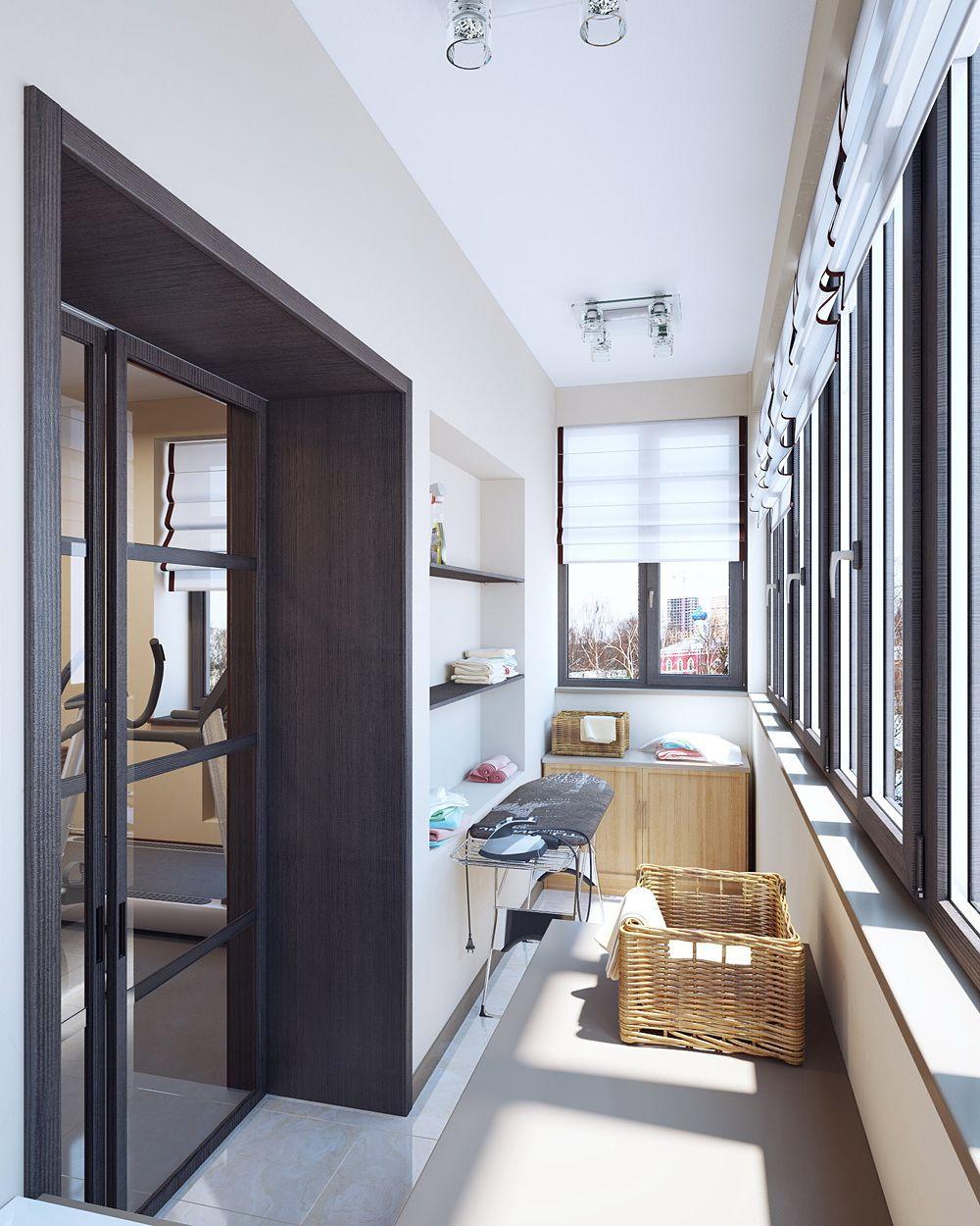Балкон присоединенный к комнате фото.