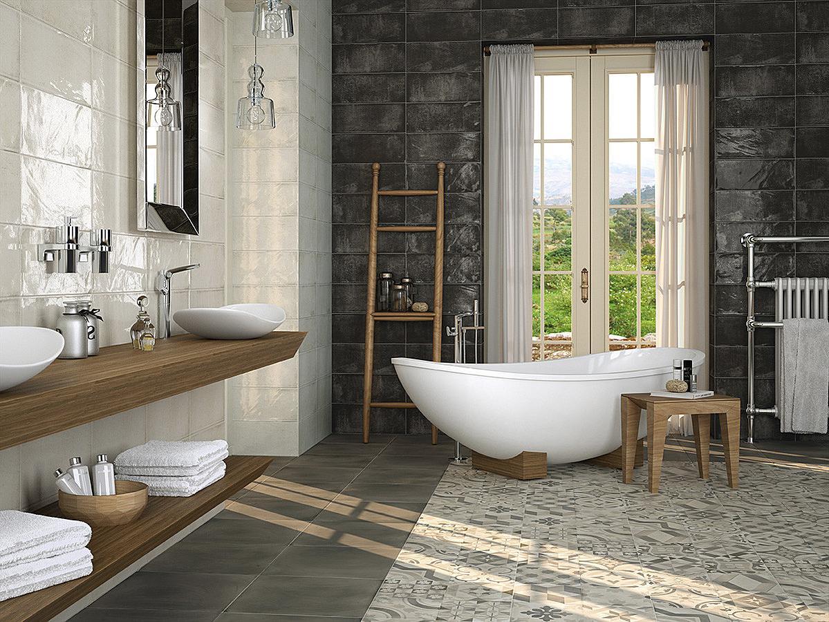 Оборудование большой ванной комнаты мебель для ванной под дерево