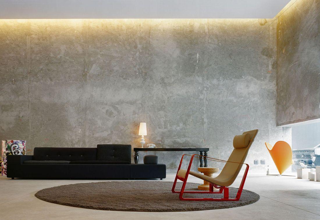 интерьер в бетоне