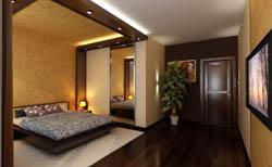 Освещение в спальне стиля минимализм