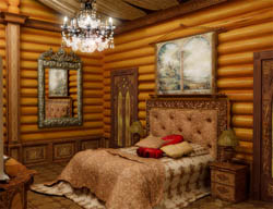 Этностиль - спальня в деревенском стиле