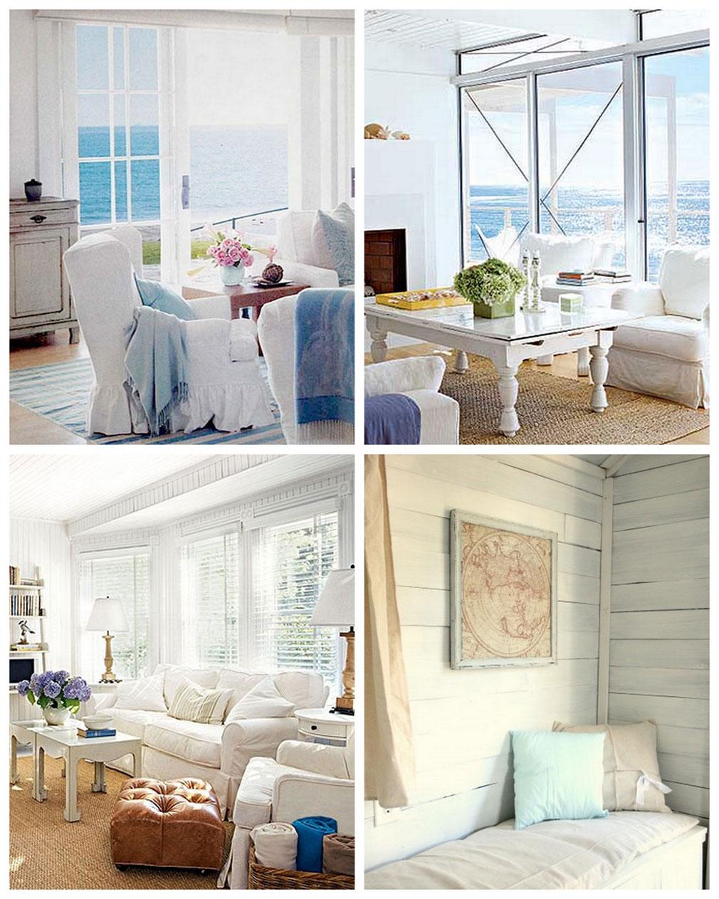 интерьеры в морском стиле фото