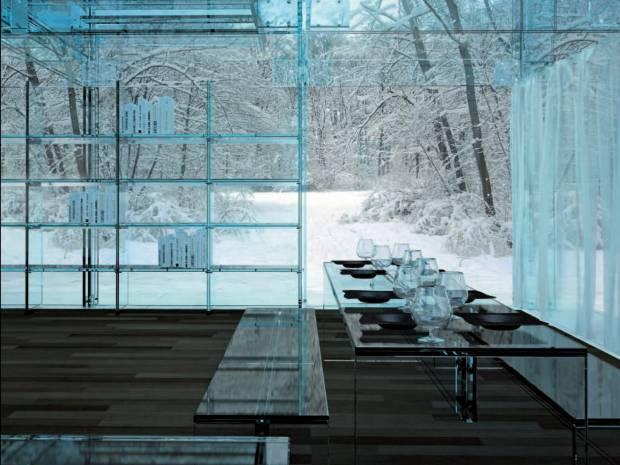 Интерьер из стекла