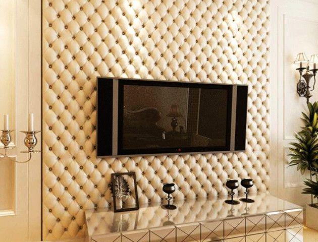 Кожаные панели на стене
