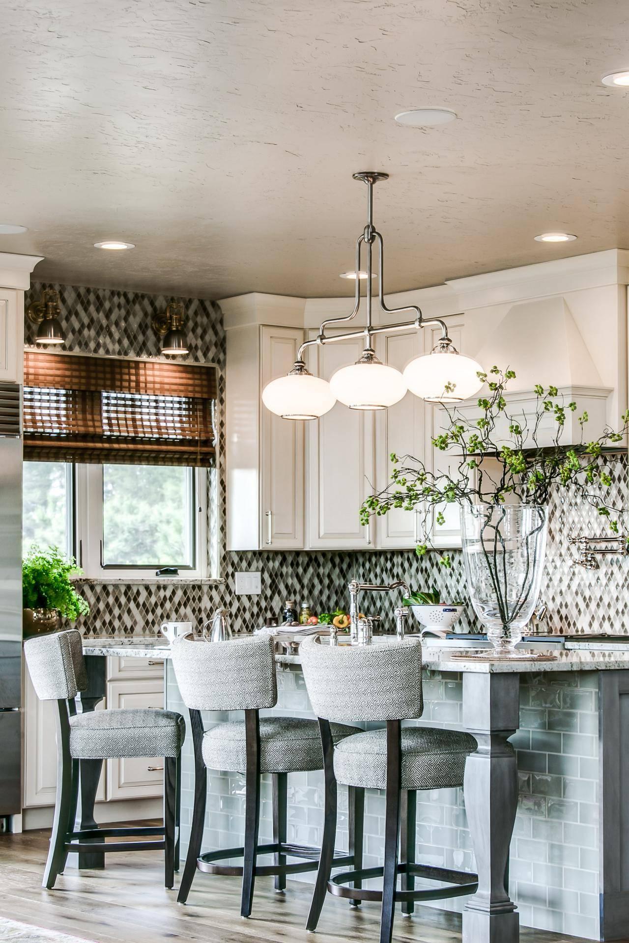 Дизайн интерьер гостиной объединенной с кухней