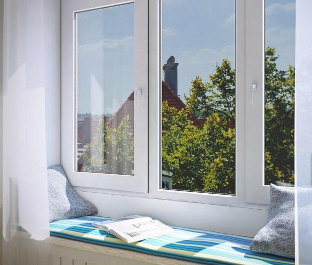 Окно с энергосберегающим стеклопакетом