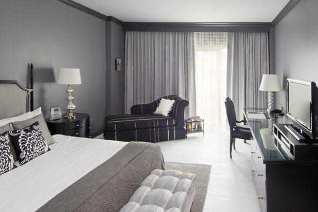 Серая комната дизайн