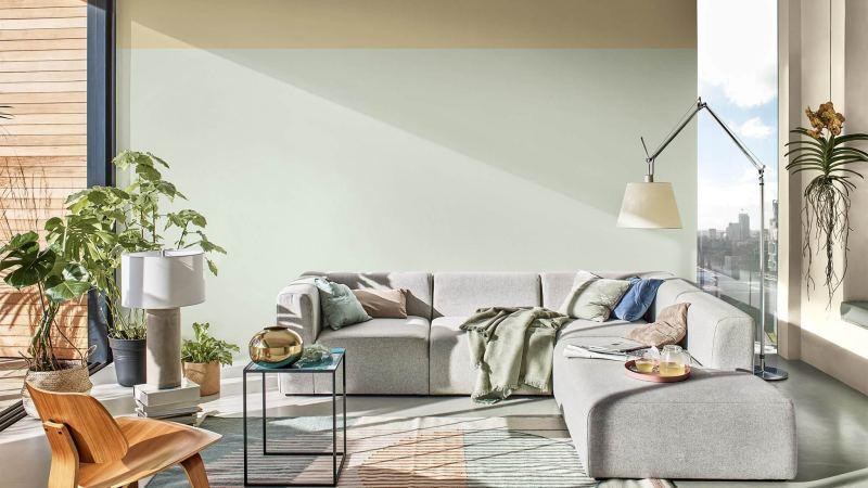 цвет 2020 года в  интерьере гостиной