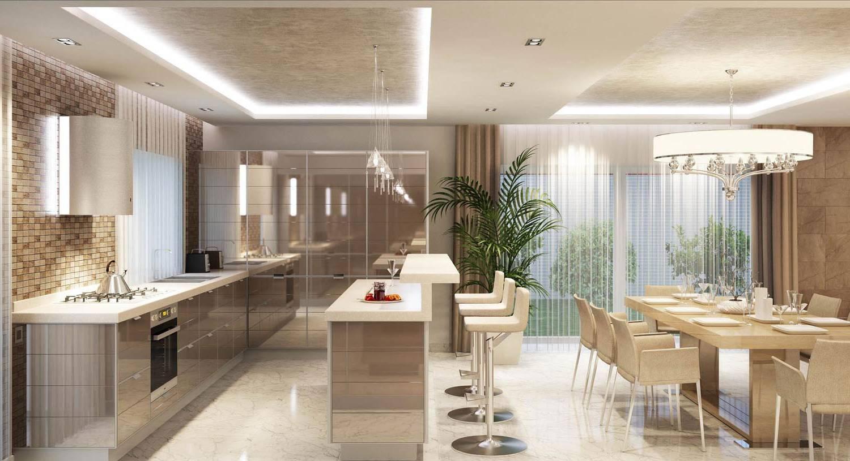 Дизайн кухни-столовой-гостиной: 45 фото дизайна в доме 82
