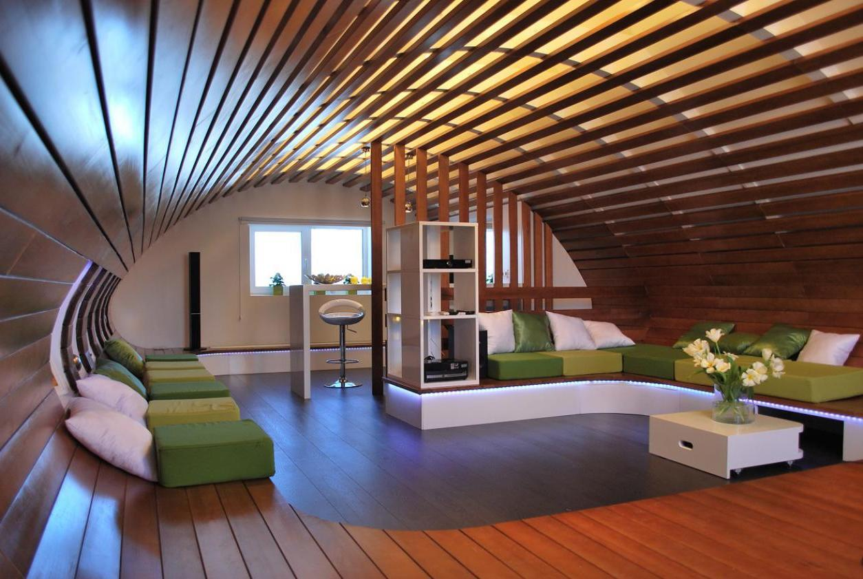 Дизайн проекты интерьеров мансард