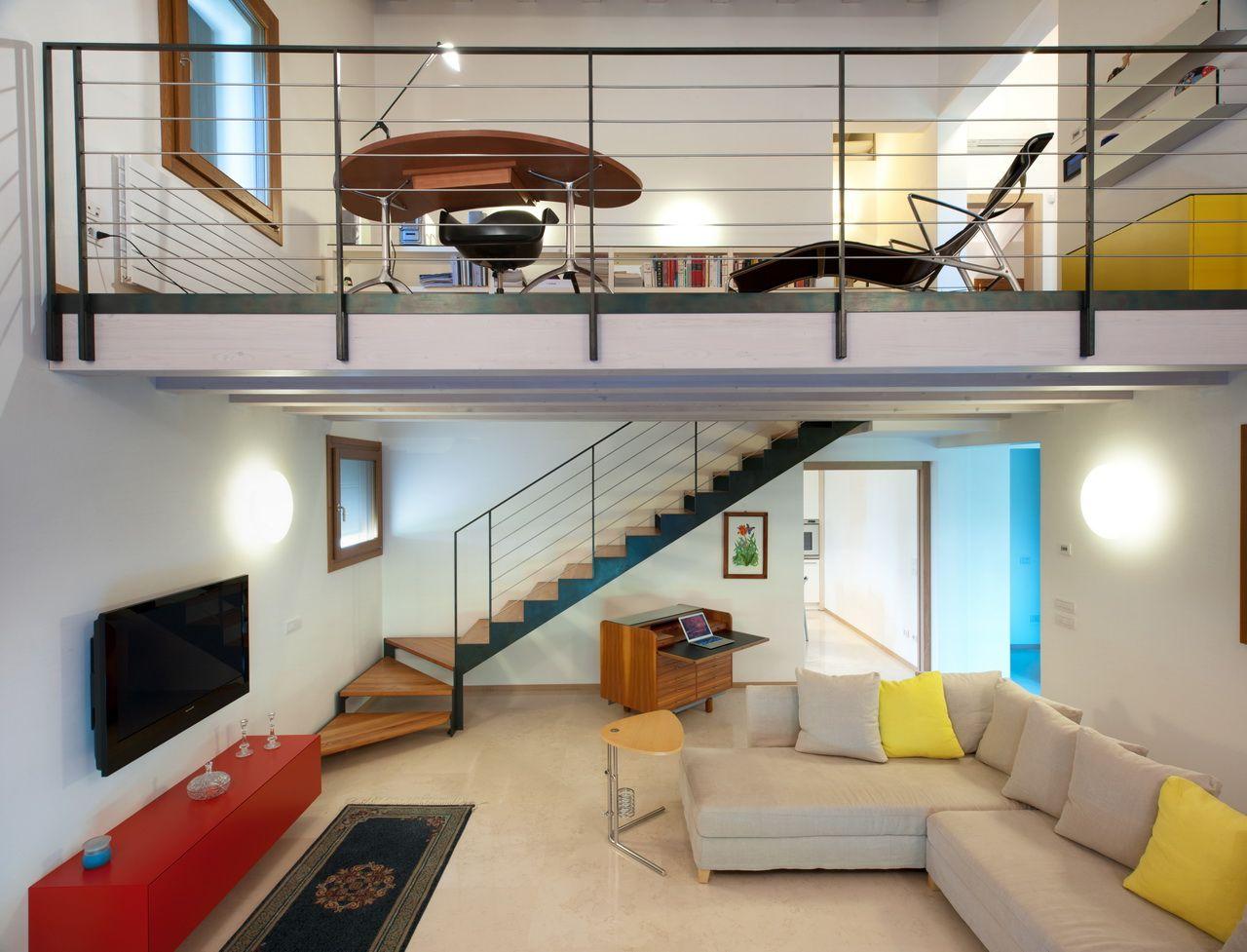 Антресоль в квартире дизайн 124