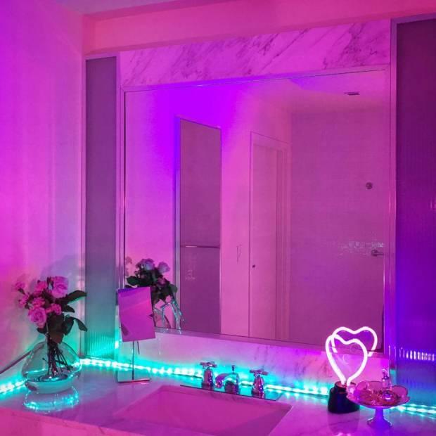 11 b Использование неоновой подсветки для дома Фото