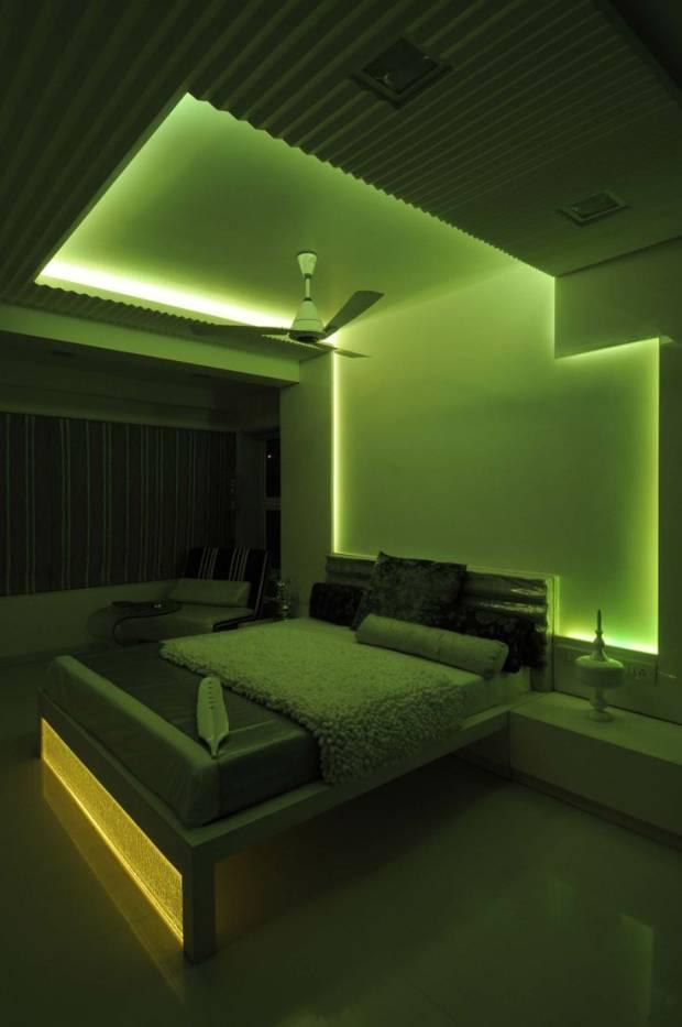 41 b Использование неоновой подсветки для дома Фото
