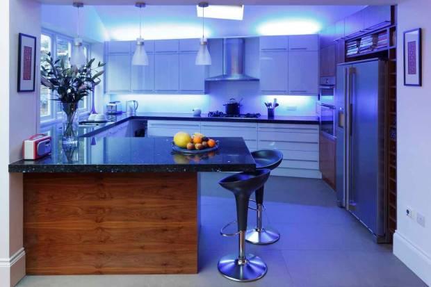 44 b Использование неоновой подсветки для дома Фото