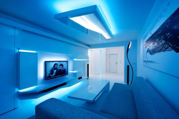 45 b Использование неоновой подсветки для дома Фото