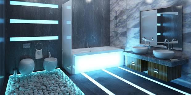 77 b Использование неоновой подсветки для дома Фото