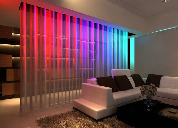 79 b Использование неоновой подсветки для дома Фото