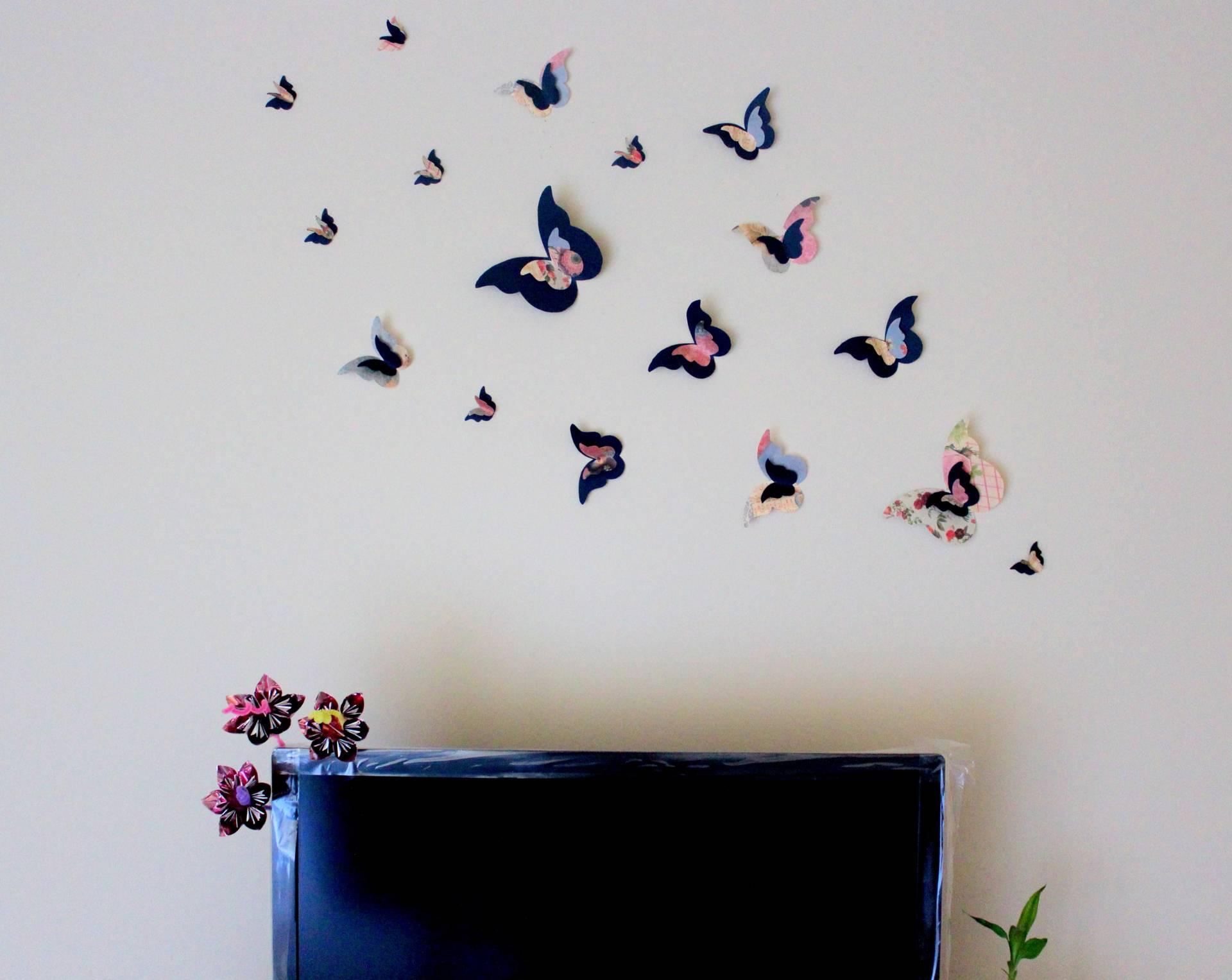Декор стен бабочками своими руками: трафареты, материалы 88