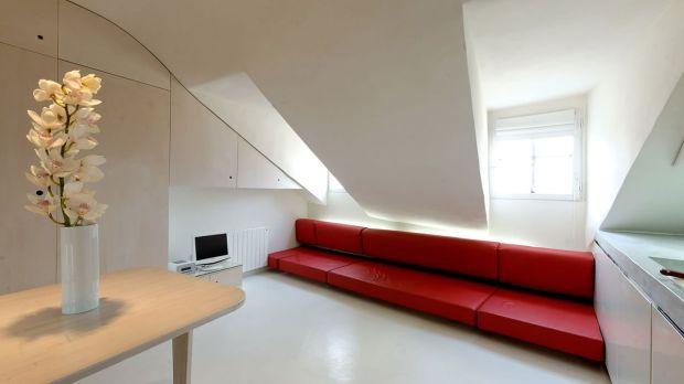 Мансардная квартира-студии в стиле минимализма