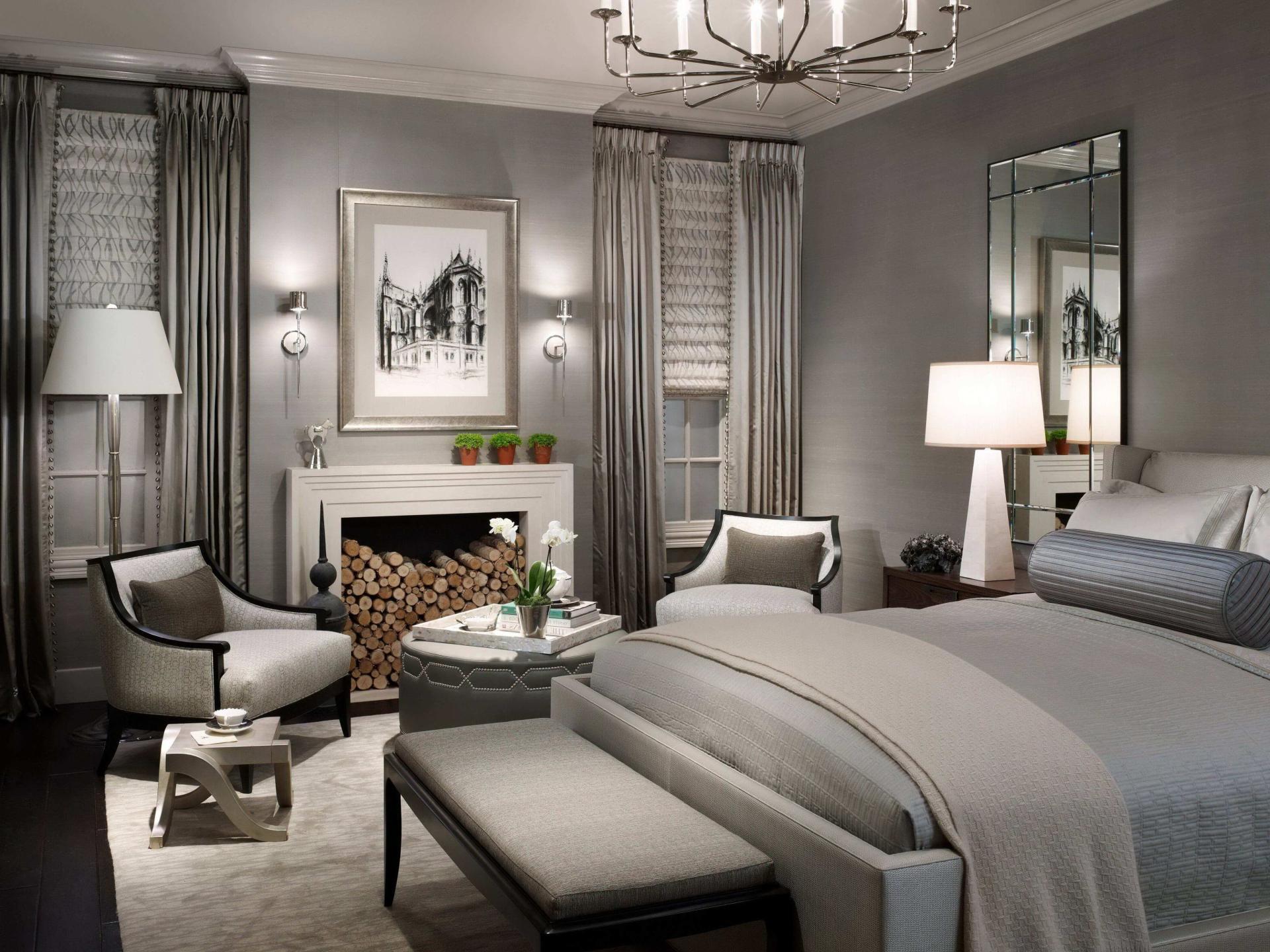 Спальня в сером цвете дизайн фото