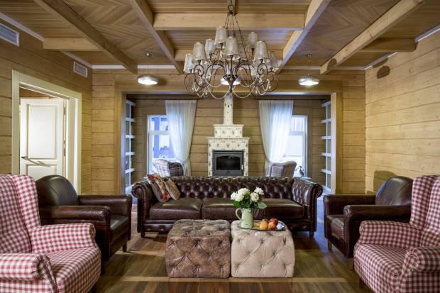 Отделка деревянного дома внутри Фото оригинальных интерьеров