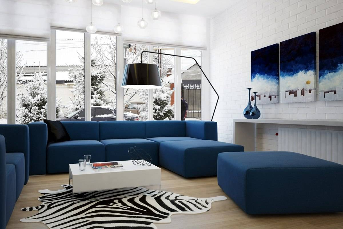 Сочетания синего цвета в интерьере фото и видео